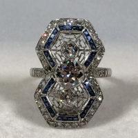 Art Deco Ring Spiderweb Style