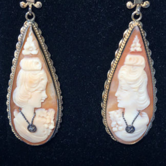 Unique Vintage Cameo Earrings