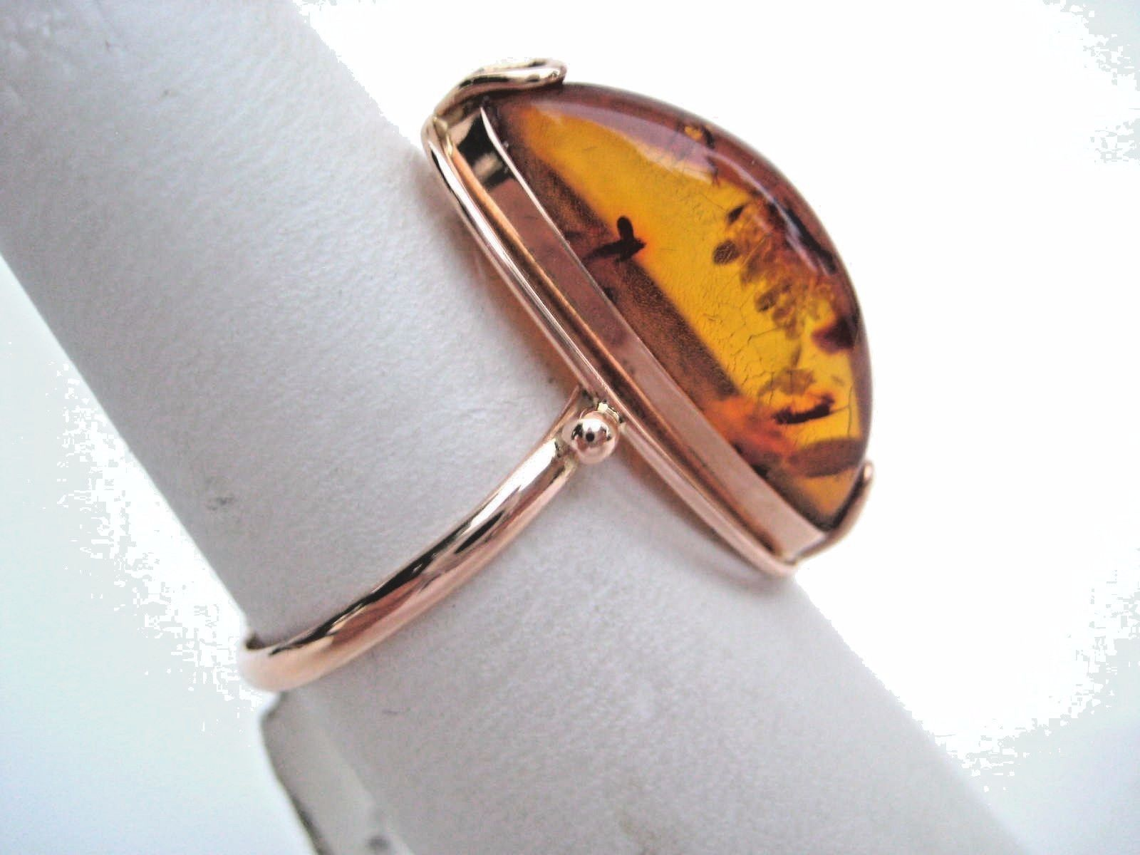 citrine amber ring gold engagement cocktail lily luminous gemstone blanche rings