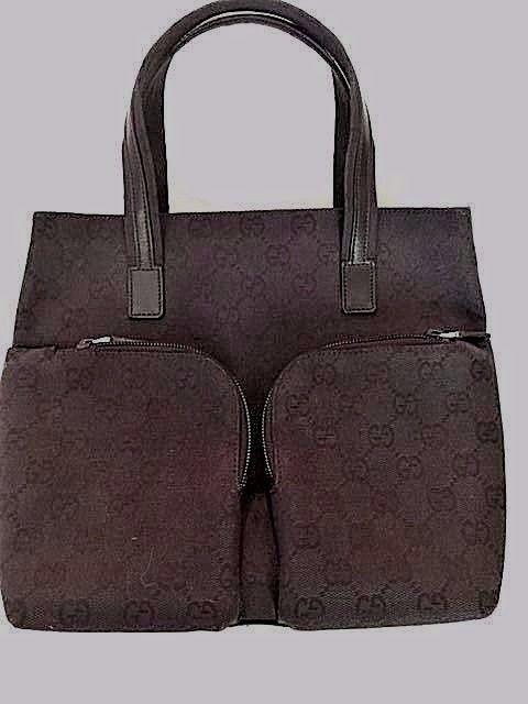 Vintage Black Gucci Hand Bag