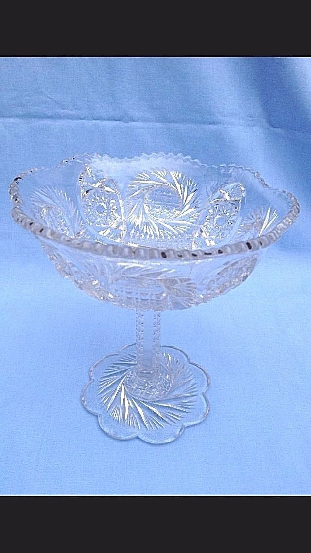 Glass Compote Candy Dish 1930'S Vintage