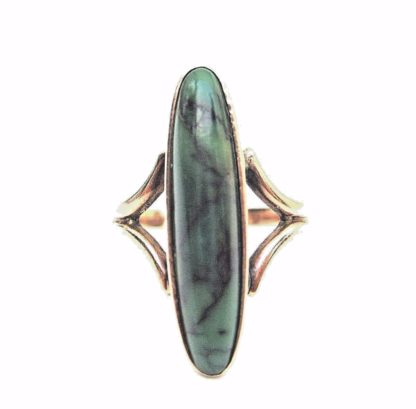 Antique Victorian natural stone oblong Ring