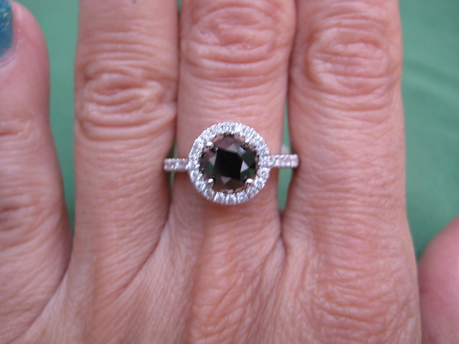 Elegant 2 Carat Black Diamond Ring - Best Jewelry